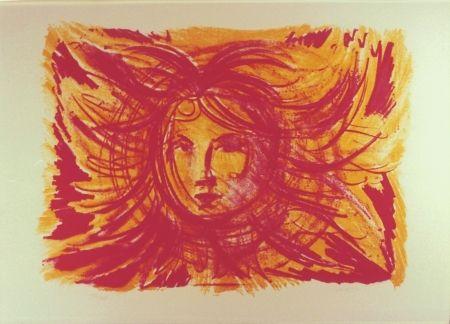 Lithographie Sassu - Sole