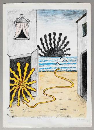 Lithographie De Chirico - Sole e mare