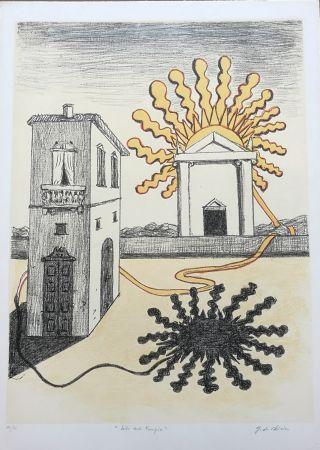 Lithographie De Chirico - Sole sul tempio
