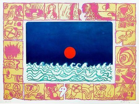 Gravure de pierre alechinsky soleil cou coup sur amorosart for Alechinsky oeuvres