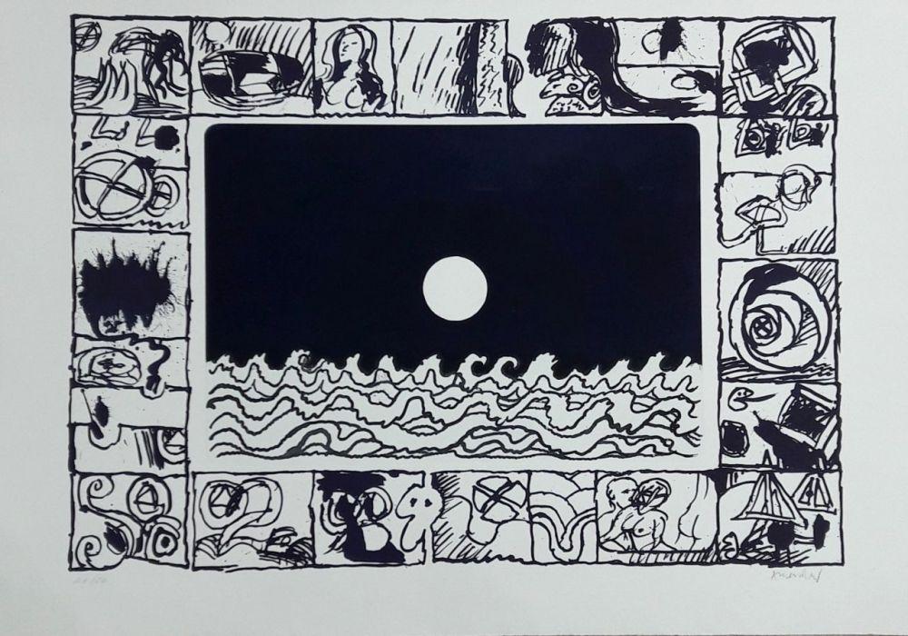 Gravure Alechinsky - Soleil cou coupé