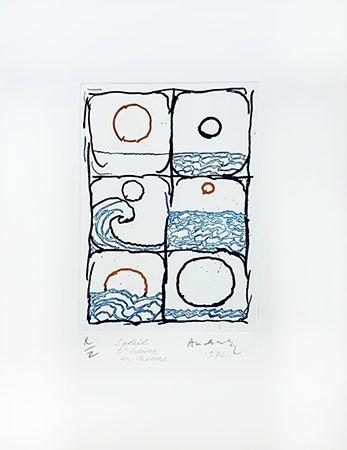 Gravure Alechinsky - Soleil d'heure en heure