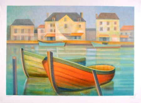 Lithographie Toffoli - Soleil du Midi en Vendée