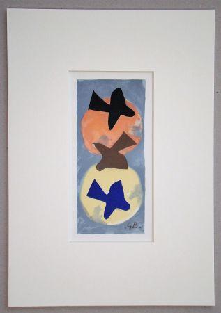 Lithographie Braque (After) - Soleil et Lune I.