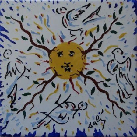 Céramique Dali - Soleil radieux