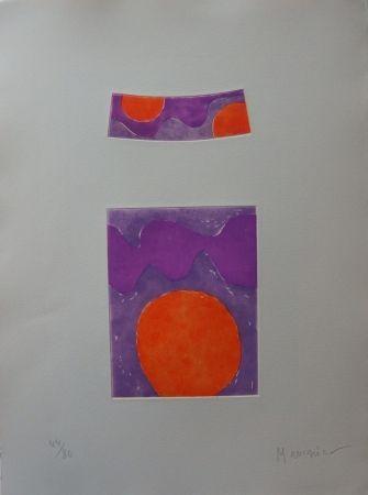 Eau-Forte Et Aquatinte Manessier - Soleils oranges