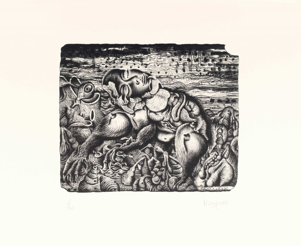 Lithographie Blanquet - Sommeil Apocryphe