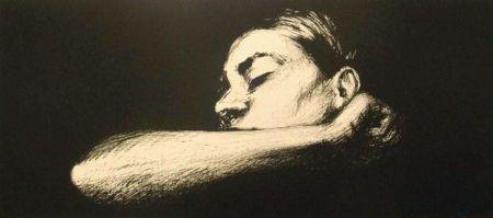 Lithographie Joliet - Sommeil noir