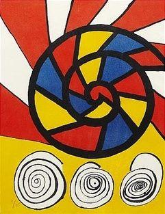 Lithographie Calder - Sonet