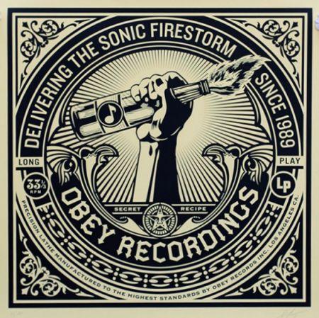 Sérigraphie Fairey - Sonic Firestorm