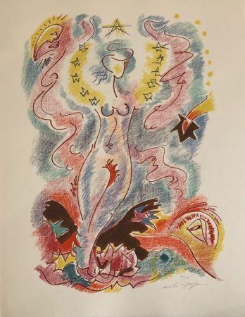 Lithographie Masson - Sonnets de Louise Labé