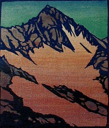 Gravure Sur Bois Rice - Source of the Glacier