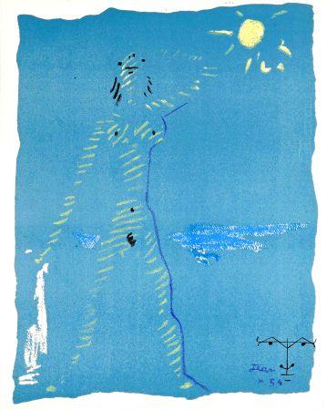 Lithographie Cocteau - Sous le manteau de feu