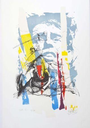 Lithographie Blanchard - Sous le soleil de J. Brel