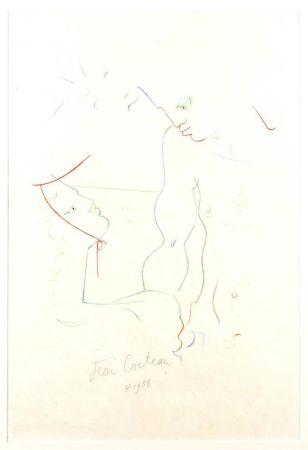Lithographie Cocteau - Sous le soleil de Menton