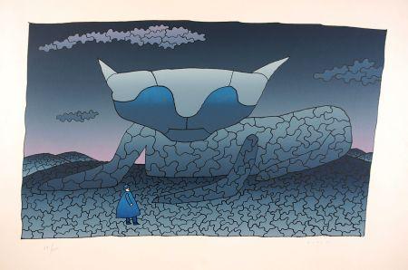Sérigraphie Folon - Souvenir d'Alice