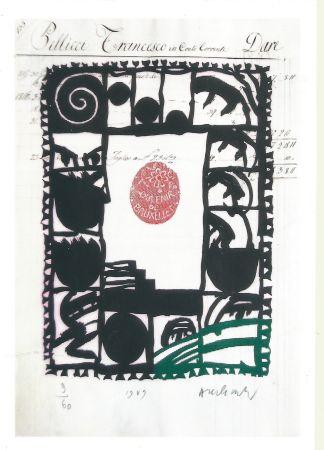 Gravure Alechinsky - Souvenir de Bruxelles