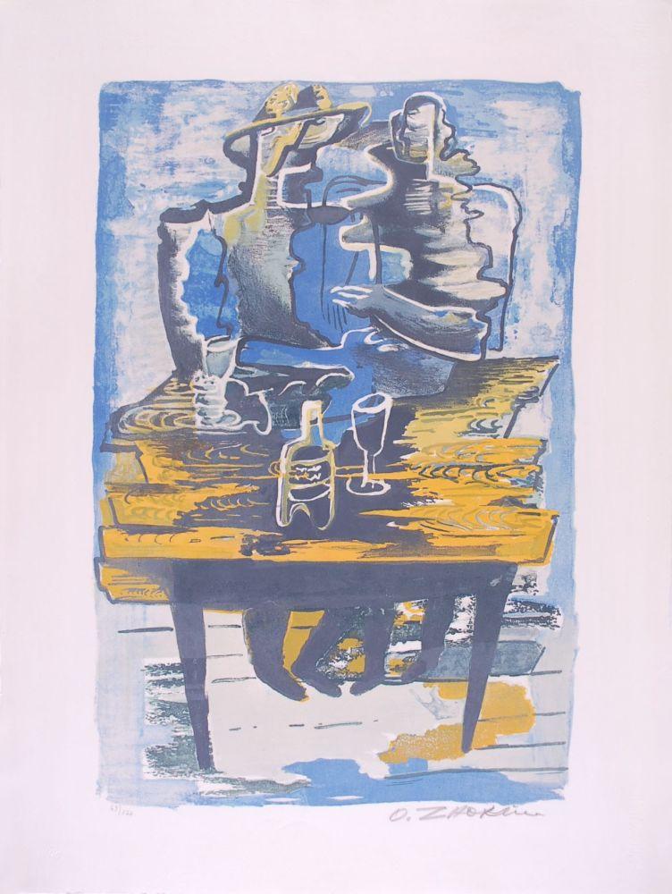 Lithographie Zadkine - Souvenirs