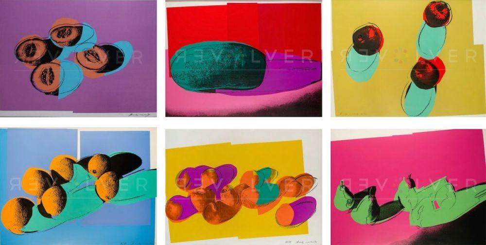 Sérigraphie Warhol - Space Fruit: Still Lifes, Complete Portfolio (FS II.198-203)