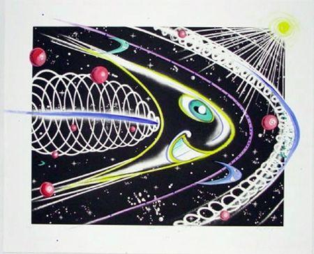 Gravure Scharf - Space Traveler