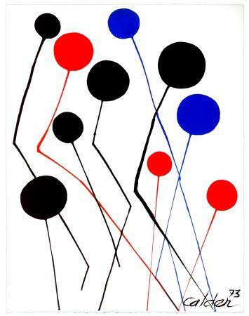 Lithographie Calder - Spanish refugee aid