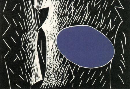 Linogravure Kuroda - Sparks I I I