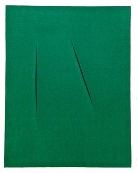 Lithographie Fontana - Spaziale Concetto