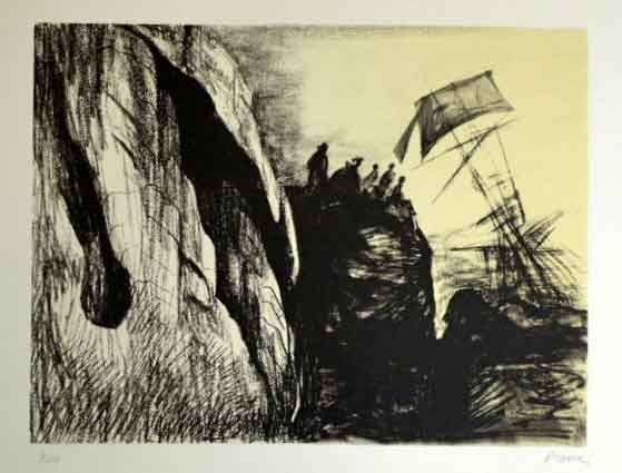 Lithographie Moore - Sphipwreck II