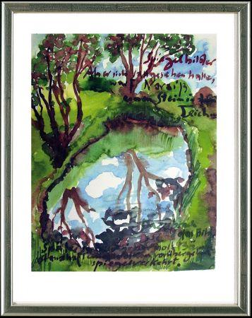Lithographie Grass - Spiegelbilder