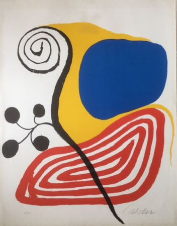 Lithographie Calder - Spiral Composition