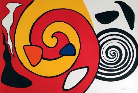 Lithographie Calder - Spirale et turban