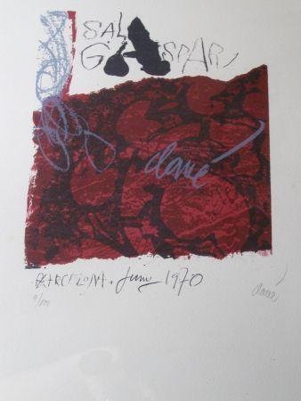 Lithographie Clavé - S/T