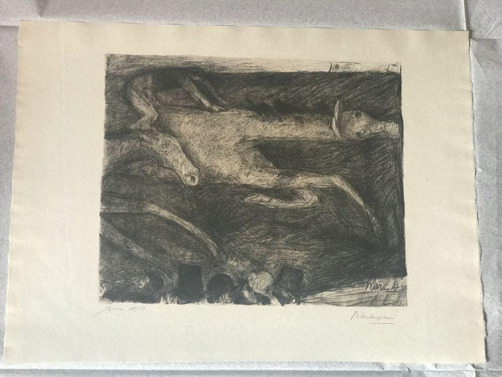 Lithographie Auberjonois - S/T