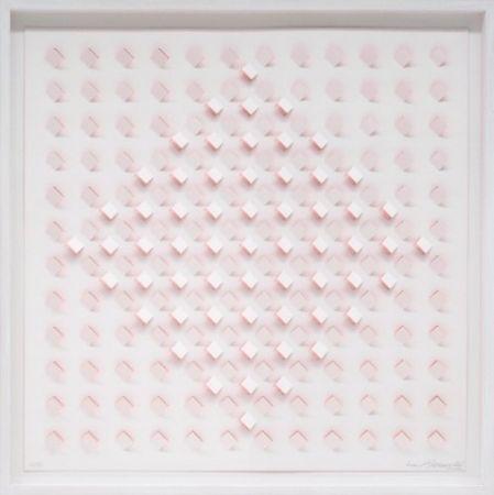 Lithographie Tomasello - S/T 1 - Rosa
