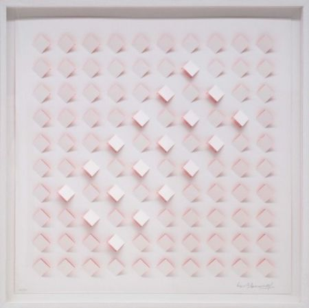 Lithographie Tomasello - S/T 4 - Rosa