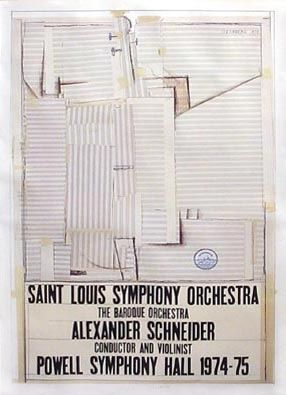 Lithographie Steinberg - St. Louis Symphony Orchestra
