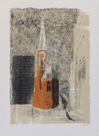 Lithographie Piper - St Mary's Paddington