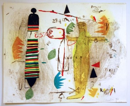 Lithographie Nalin - St Monica