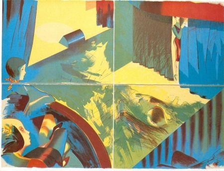 Lithographie Jones - Stage Set