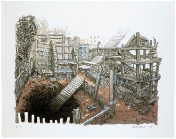 Lithographie Oiwa - STAIRS