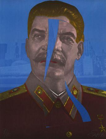 Linogravure Erro - Staline in New York