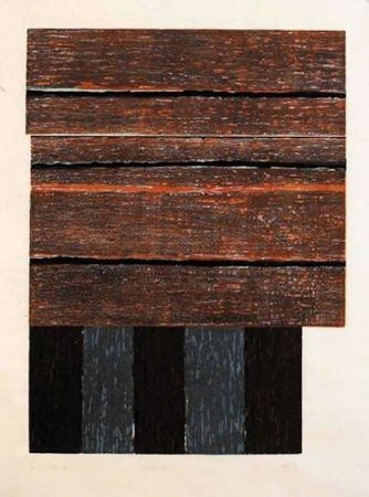 Gravure Sur Bois Scully - Standing II