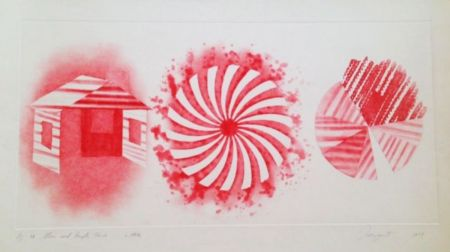 Aquatinte Rosenquist - Star And Empty House - 2 State