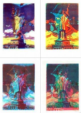 Sérigraphie Bury - Statue de la liberté, 8 variations