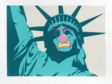 Sérigraphie D-Face - Statue of Liberty