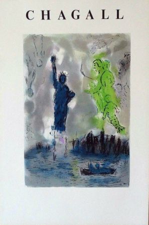 Lithographie Chagall - Statue Of Liberty