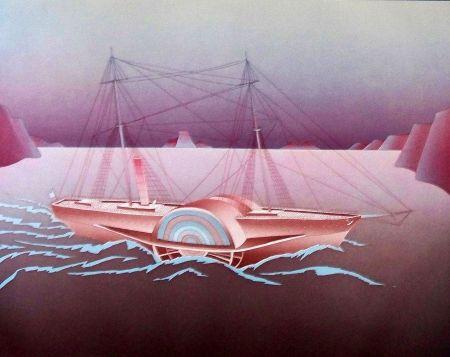 Eau-Forte Et Aquatinte Folon - Steamboat