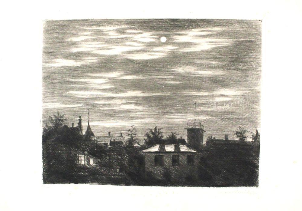 Gravure Meid - Steglitzer Mondnacht