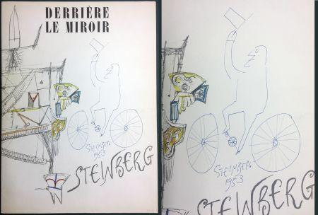 Livre Illustré Steinberg - STEINBERG. (avec dessin original signé et daté). Derrière le Miroir 1953