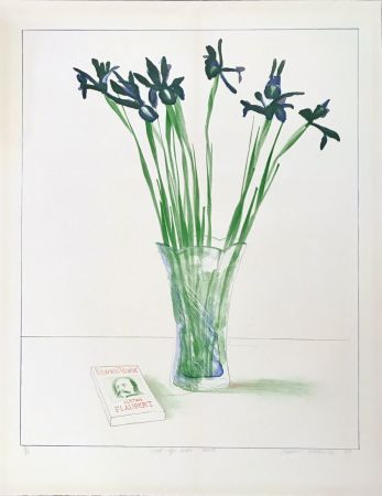 Lithographie Hockney - Still Life with Book